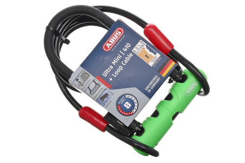 abus ultra mini 410 loop cable bike u lock cable lock key road mountain ebay. Black Bedroom Furniture Sets. Home Design Ideas