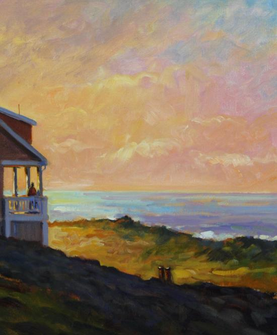 Original WILLIAM J MALONEY Luminist Sunrise Cape Cod