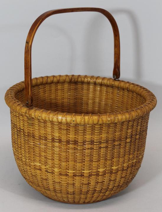 Handmade Nantucket Basket : Authentic handmade nautical nantucket swing handle