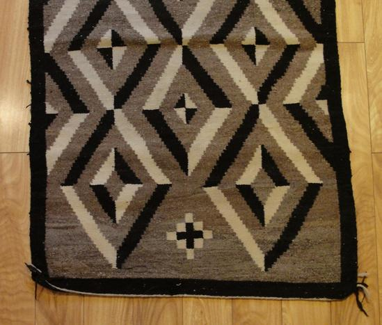 Antique Indian Rugs: Small Antique Western Native American Navajo Indian Wool