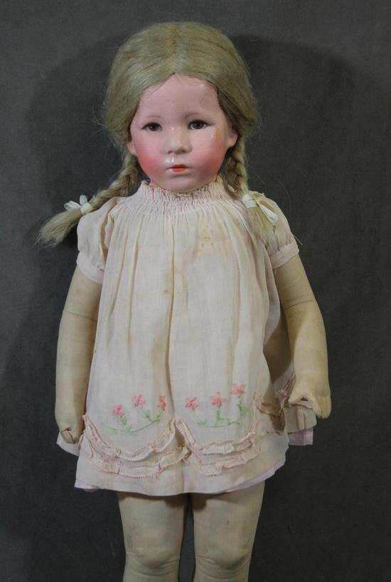"Antique 20"" Kathe Kruse Cloth Doll *German Child* All ..."