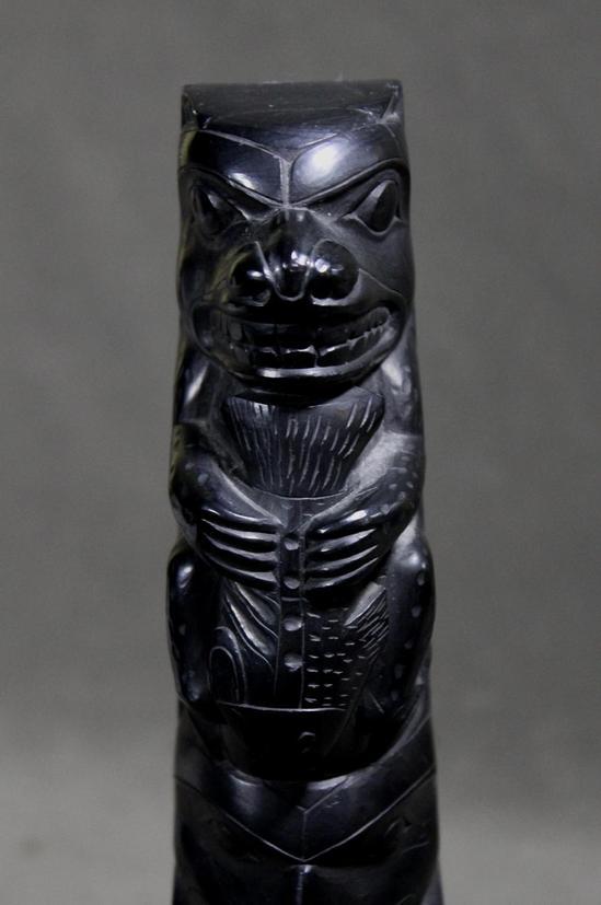 Authentic antique northwest coast hand carved argillite