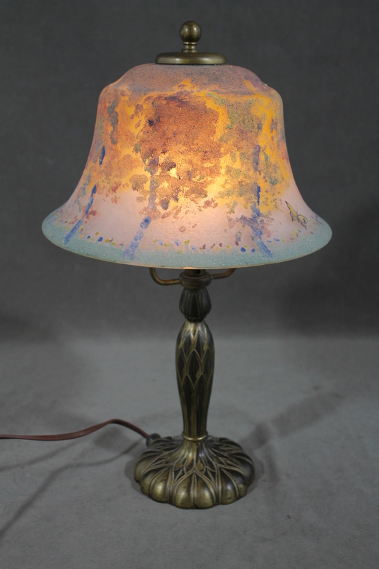 Antique Pairpoint Boudoir Lamp W Butterflies Amp Trees