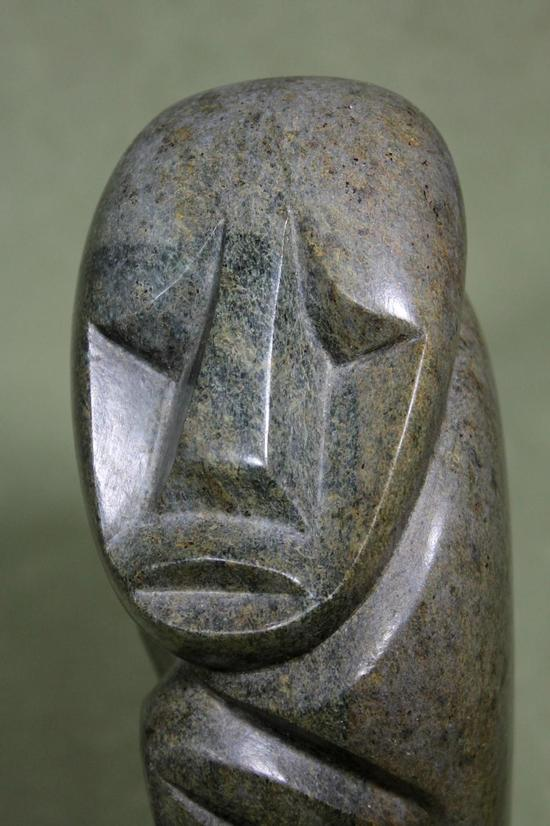 Original signed richard mteki african zimbabwe stone