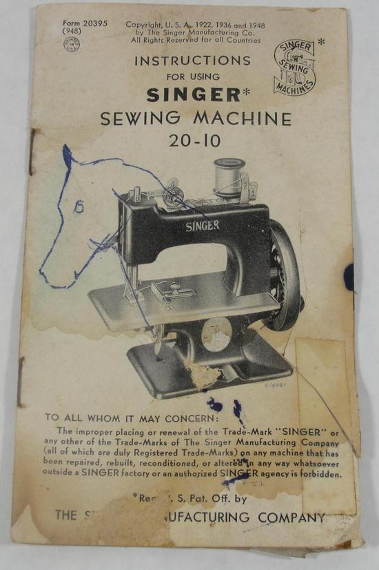 childs singer sewing machine manual