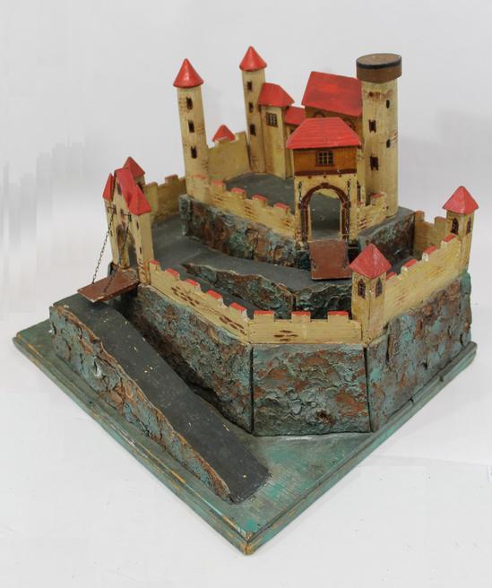 Antique German, Moritz Gottschalk, Childs Wood Toy Castle, Original ...