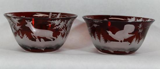 S Cut Glass Desert Bowls