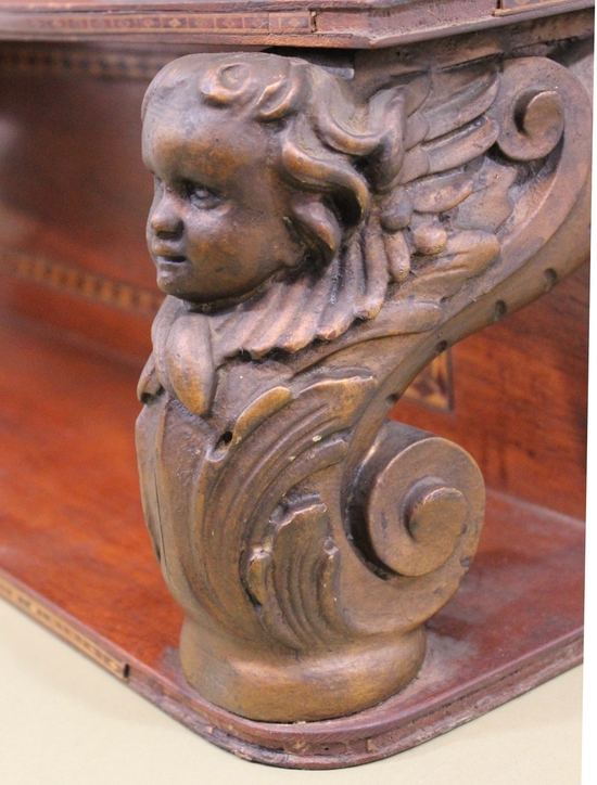 Antique thc architectural carved angels mahogany