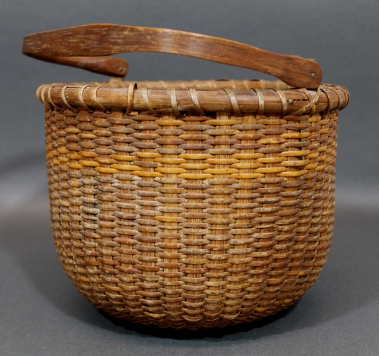Handmade Nantucket Basket : Antique thc handmade new england primitive nantucket