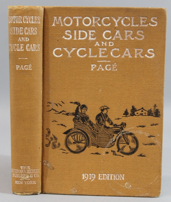 Antique 1919 Book Motorcycles  Sidecars  Cyclecars  Photographs on Happy Motorcycle Engine Diagram