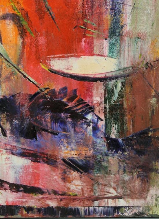 Stanley Sobossek Abstract Oil Painting