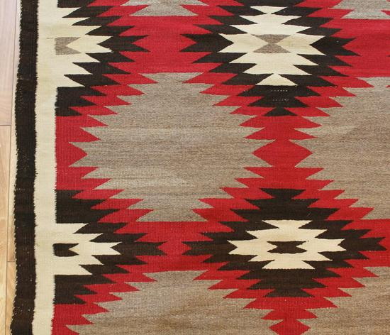Antique Circa 1900 Finely Hand Woven Navajo Wool Rug, No