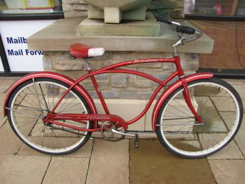 Schwinn 26 Cruiser Bicycle Tires : Vintage red schwinn typhoon cruiser quot bicycle