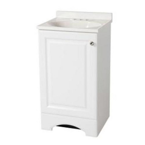 Glacier Bay 18 White Vanity White Cultured Marble Sink