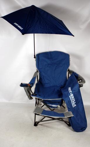 BLUE Sport Brella Folding Sport Beach Recliner Chair With