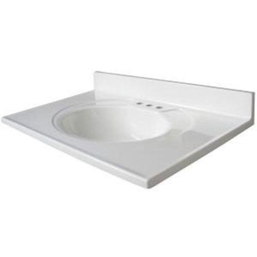 Glacier Bay Newport 31 X 19 White Marble Vanity Top Countertop Sink Bowl Ebay