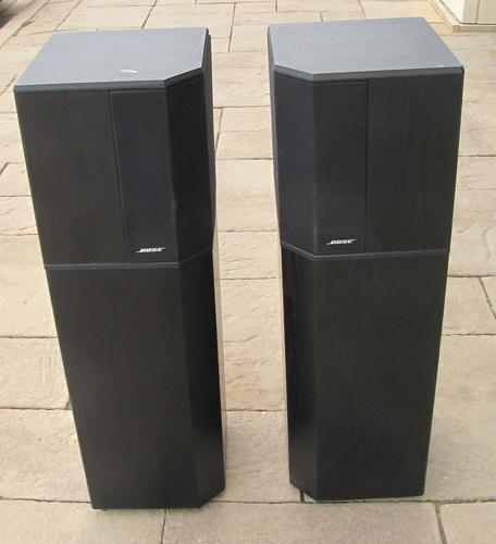 pair of bose model 10 2 ii series 2 black tower free. Black Bedroom Furniture Sets. Home Design Ideas