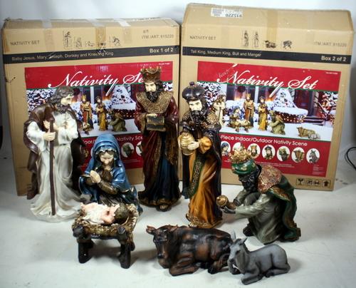 Costco Outdoor Yard Decor 9-Piece Poly Resin Nativity Set ...