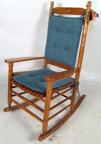 Cracker Barrel U S Flag Rocking Chair Wooden Porch Indoor