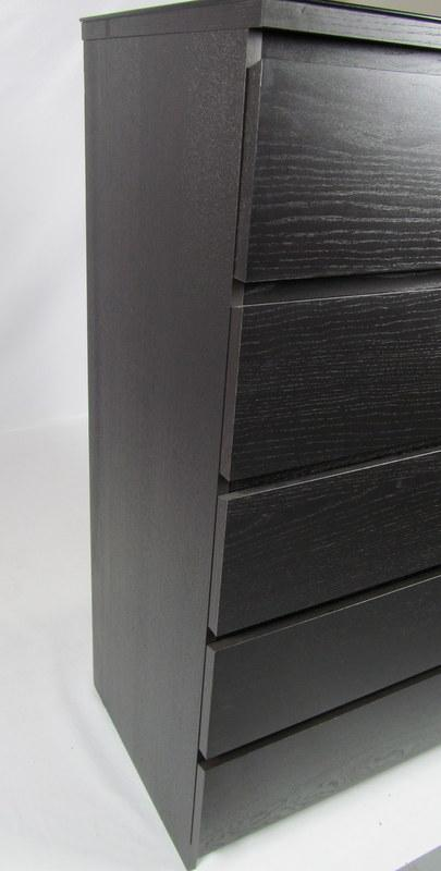ikea malm 6 drawer dresser chest of drawers black brown w. Black Bedroom Furniture Sets. Home Design Ideas
