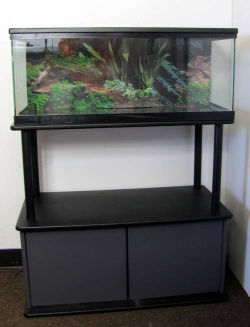 20 gallon long aquarium fish tank and cover w stand and