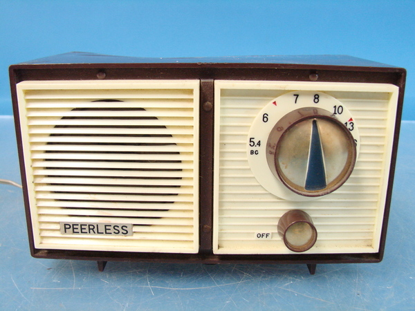 peerless japenese am tube radio brown vtg antique japan. Black Bedroom Furniture Sets. Home Design Ideas