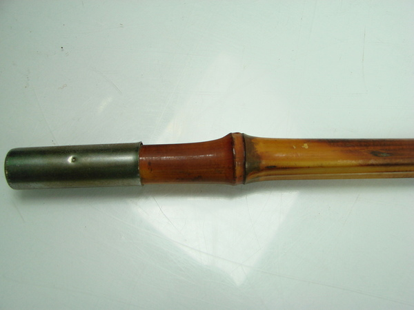 Vintage 3 piece wooden bamboo cane fly fishing pole rod 12 for Antique bamboo fishing rods