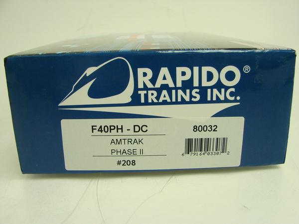 rapido amtrak f40ph phase ii 208 dcc ready ho scale train locomotive ebay. Black Bedroom Furniture Sets. Home Design Ideas