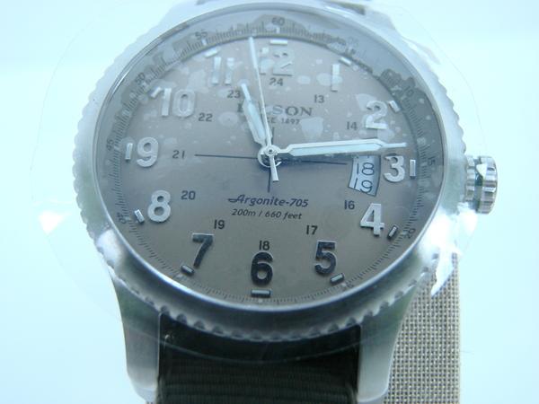 Filson mackinaw field watch by shinola argonite 705 watch wristwatch w wood box ebay for Argonite watches