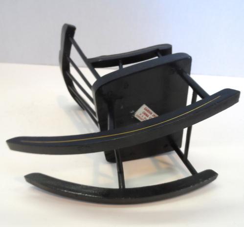 VTG Pennsylvania Dutch Miniature Black Wood Rocking - Ad#: 4809633 ...