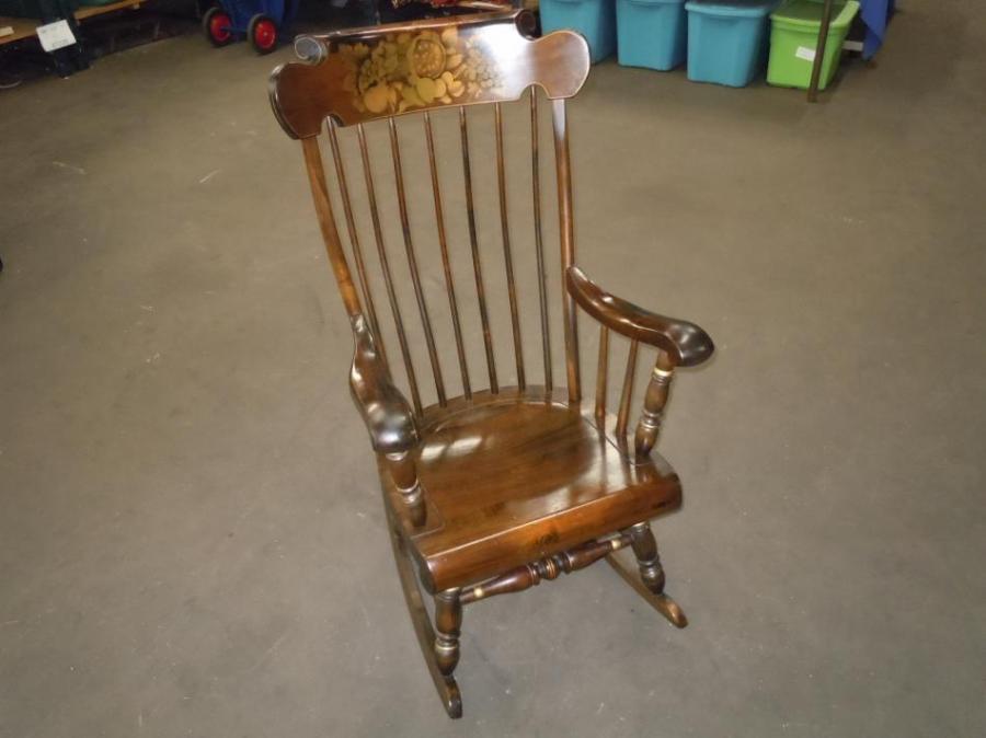 Ethan Allen Barnstable Stenciled Rocking Chair Rocker