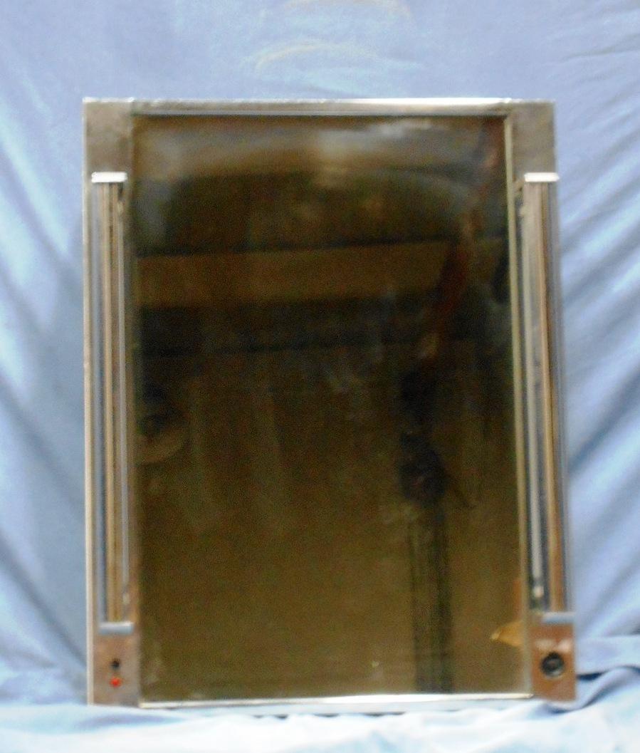 vintage mirrored bathroom medicine cabinet w glass shelves. Black Bedroom Furniture Sets. Home Design Ideas