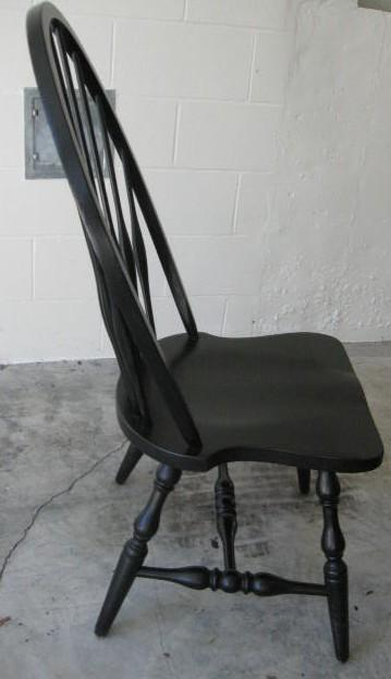 Solid Oak Windsor Chairs ~ Pottery barn high back solid oak windsor dining chairs