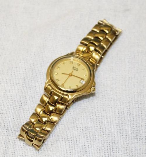 esquire esq swiss quartz womens gold watch 100383 ebay. Black Bedroom Furniture Sets. Home Design Ideas