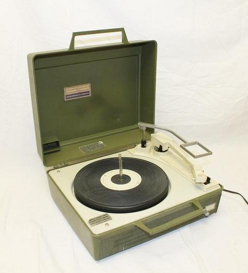 vintage ge v636j turntable record player working portable ebay. Black Bedroom Furniture Sets. Home Design Ideas