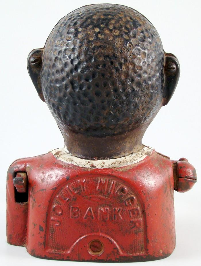 Antique Jolly Nigger Black Americana Cast Iron Mechanical Coin Bank ...: www.ebay.com/itm/Antique-Jolly-Nigger-Black-Americana-Cast-Iron...