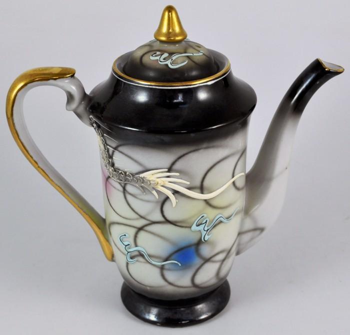 dragonware lithopane demitasse set coffee teapot made in