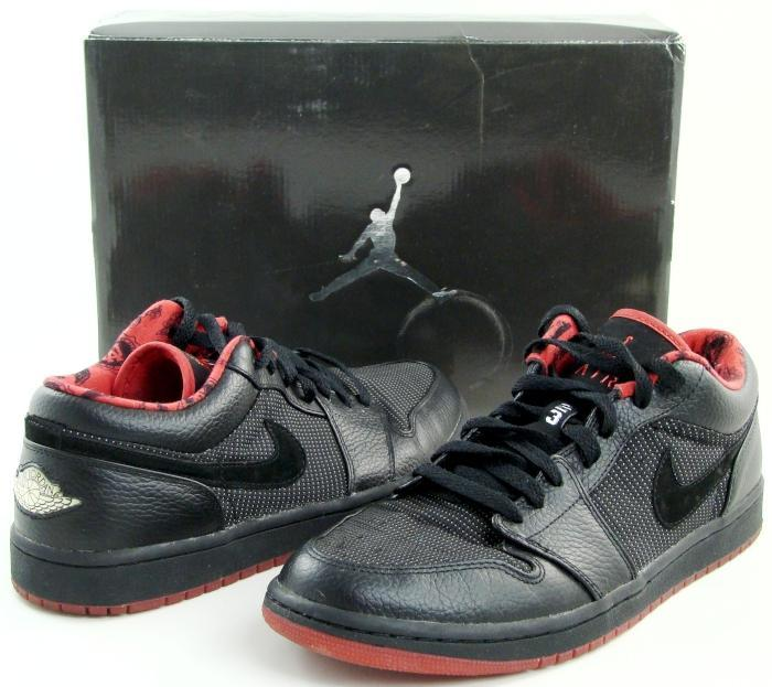 air jordan 1 low black red