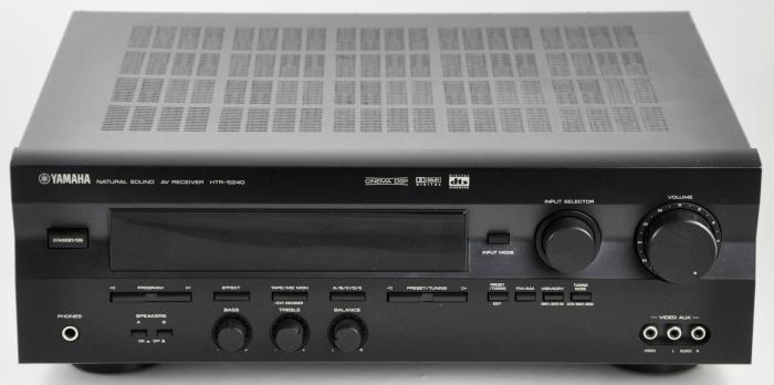 Yamaha htr 5240 a v receiver 160 watt 5 1 channel stereo for Yamaha amplifier receiver