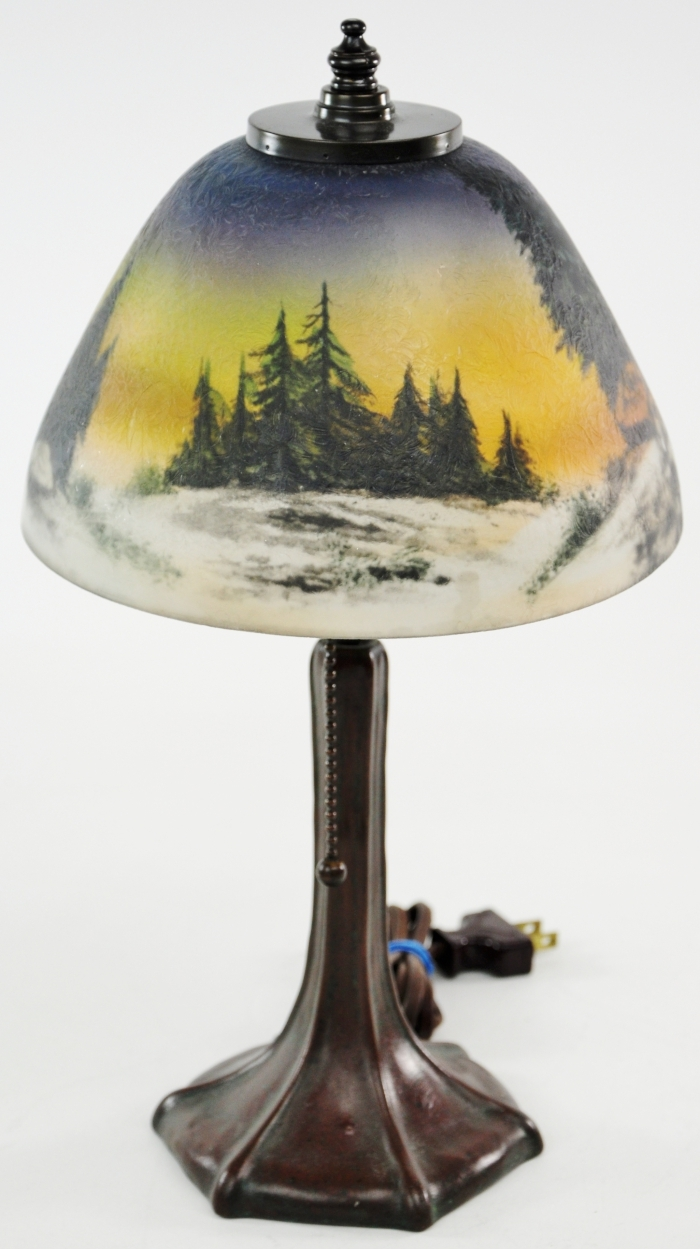 Reverse painted lamp shades car interior design for Painting light shades