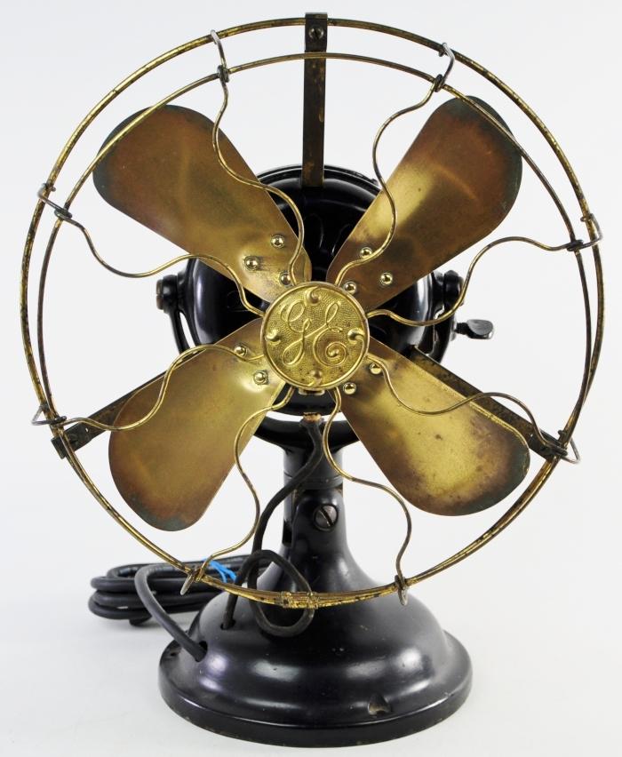 Vintage Ge Fan Model Numbers : Antique ge general electric fan brass solid np