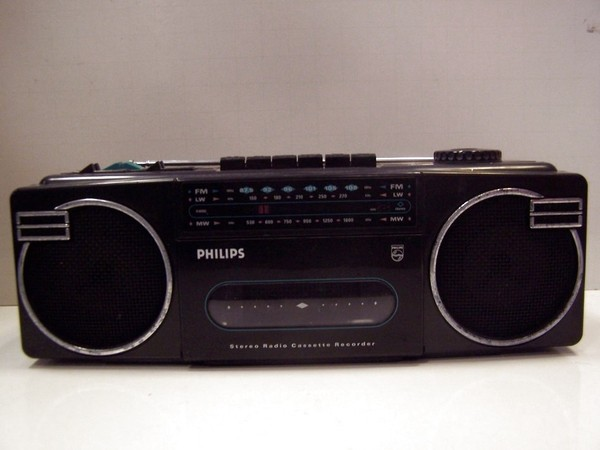 Vintage philips stereo radio cassette recorder boombox ghetto blaster d8092 3 - Ghetto blaster philips ...