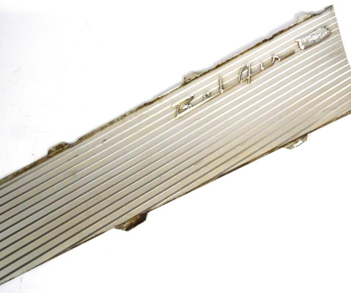 Vintage original 1955 1957 chevy bel air 2 aluminum side for 1955 chevy bel air door panels