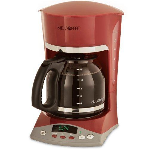 Dual Coffee Maker With Automatic Shut Off : Mr. Coffee SKX26 12-Cup Programmable Coffeemaker, Red eBay