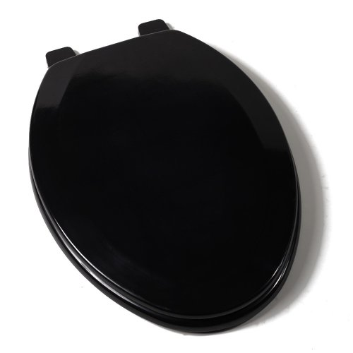Comfort Seats C1B4E2 90 Deluxe Molded Wood Toilet Seat Elongated Black EBay