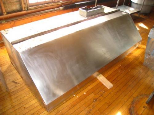 Used Restaurant Vent Hoods ~ Ft stainless steel commercial restaurant exhaust fume