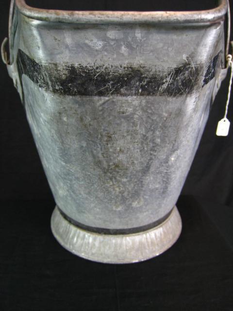 Vintage galvanized zinc coal scuttle hod bucket pail home for Galvanized well bucket