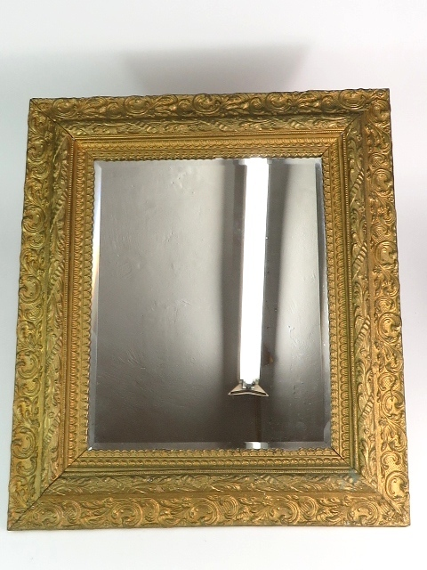 Antique Beveled Glass Mirror with Gold Gilt Frame (16x20 ...