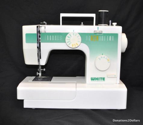 white sewing machine 1632
