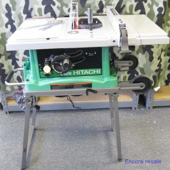 New hitachi c10fr portable 10 job site worksite table saw for 10 hitachi table saw
